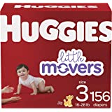Baby Diapers Size 3, 156 Ct, Huggies Little Movers