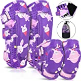 MOVTOTOP Knee Pads for Kids, 6 in 1 Kids Knee and Elbow Pads with Gloves Set - Reinforced Stitching Around, Toddler Sports Pr