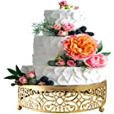 """Gold Cake Stand for Dessert Table,10"""" Cake Stands Cookies Cupcake Dessert Stands for Weedings Birthday Baby Showers Anniversa"""
