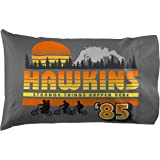 Jay Franco Stranger Things Hawkins 85 1 Pack Pillowcase - Double-Sided Kids Super Soft Bedding (Official Netflix Product)