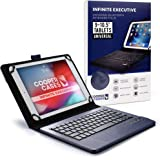 Cooper Infinite Executive Keyboard Case for 9-10.5 inch Tablets | Universal Fit | 2-in-1 Bluetooth Wireless Keyboard & Leathe