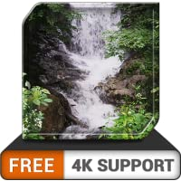 FREE Awesome Waterfall HD - Decor your room with beautiful Waterfall Scenery on your HDR 4K TV 8K TV and fire devices as a wallpaper & theme for mediation & peace and for christmas Holidays