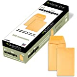 #1 Coin and Small Parts Envelope with Gummed Flap for Home or Office Use, 28 lb. Brown Kraft, 2-1/4 x 3-1/2, 500 per Box (501