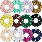 12 Pieces Horse Scrunchies Silk Satin Horse Hair Elastics Horses Hair Ties Horse Hair Accessories Horse Ponytail Holders for