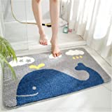 THRILRUG Cute Bathroom Rugs mats,Non-Slip Extra Soft Microfiber Washable Water Absorbent Shower Toilet Bath Rugs mats Set for