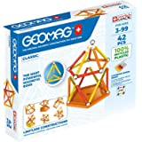 Geomag Classic - 42 Pieces - Magnetic Construction for Children - Green Collection - 100% Recycled Plastic Educational Toys,