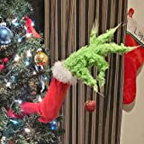 Christmas Elf Body Decorations How The Grinch Stole Christmas Burlap Christmas Garland Decorations Grinch Burlap Pose-able Pl