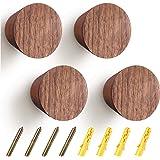 4 Packs Wooden Coat Hooks Wall Mounted Single Cone Wall Hook Rack Modern Handmade Single Coat Rack Hooks Cone Beech Wooden Cr