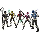 """Power Rangers Lightning Collection - 5 Pack - 6"""" In Space Psycho Rangers - Premium Collectible Action Figures - Kids Toys - A"""
