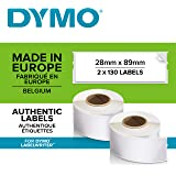 DYMO LW Address Labels, 28mm x 89mm, Self-Adhesive, Roll of 130, 2 Pack (260 Easy-Peel Labels) for LabelWriter Label Makers,