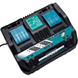 WaxPar 最新互換マキタ 2口充電器DC18RD 18V/14.4V バッテリー bl1430 bl1440 bl1450 bl1460 bl1830 bl1840 bl1850 bl1860 bl1430b bl1460b bl1860b bl