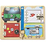 Melissa & Doug 9540 Locks and Latches Board Wooden Educational Toy