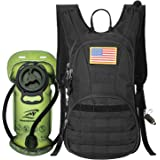 SHARKMOUTH Hydration Pack, Tactical Molle Hydration Pack Backpack 900D with 2L BPA Free Hydration Water Bladder, Military Day