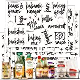 Talented Kitchen 102 Supplementary Pantry Labels – 102 Non Main Supplementary Ingredients – Pantry Food Jar Sticker. Water Re