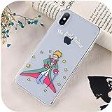 さまざまな家クリア星の王子様電話ケースFor iphone 11プロマックスX XR XS 6 6 s 7 8プラス漫画花ソフトシリコーン保護シェル-T5-For iphone 8 Plus