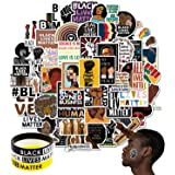 100 PCS Black Live Matter Stickers Peace Vinyl Decal Durable Small Stickers for Laptop,Water Bottles, Suitcase, Car or Any Fl