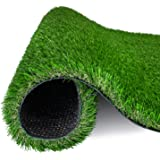 AMASKY Artificial Grass Turf 4 Tone Synthetic Artificial Turf Rug for Dog Indoor Outdoor Garden Lawn Patio Balcony Synthetic