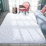 Pacapet Fluffy Area Rugs, White Shag Rug for Bedroom, Plush Furry Rugs for Living Room, Fuzzy Carpet for Kid's Room, Nursery,