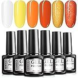 TOMICCA Gel Nail Polish Set 6 Colour Autumn Collection, Soak Off UV LED (#24)