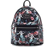 Loungefly x Ariel Floral Print Faux Leather Mini Backpack