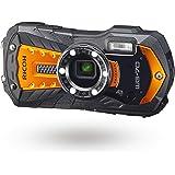 RICOH WG-70 Orange Waterproof Digital Camera 16MP High Resolution Images Waterproof 14m Shockproof 1.6m Underwater Photograph