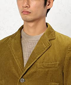 Corduroy Padded Chesterfield Coat 3225-139-2024: Brown