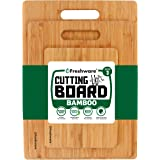 Freshware Bamboo 3 Piece Cutting Boards | 3 Layered 100% Premium Organic Bamboo | Durable Bamboo Set for Meat, Vegetables, Fr