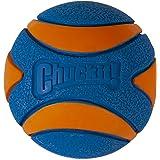 "Chuckit! 52069 Ultra Squeaker Ball - 1pk, Blue & Orange, Large 3"""
