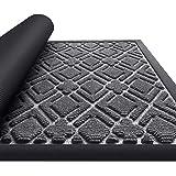KMAT Door Mat Inside Outside,Anti-Slip Durable Rubber Doormat Indoor Outdoor Front Door Mat Rugs for Entryway,Patio,Lawn,Gara