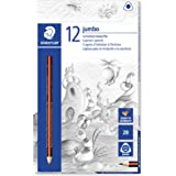 STAEDTLER 1285-1 VE Jumbo Grip, Smooth and Easy 2B Jumbo Triangular Graphite Lead Pencil Box 12 Pieces, (10432)