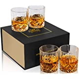 KANARS Old Fashioned Whiskey Glasses With Luxury Gift Box - 10 Oz Rocks Barware For Scotch, Bourbon, Liquor and Cocktail Drin