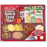 Melissa & Doug 4337 Store and Serve Snack Food Set,Red