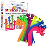 Special Supplies Colorful Sensory Fidget Animal Stretchy String - Set of 12