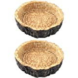 CalPalmy 2 Pack Reptile Food Bowls - Reptile Water and Food Bowls, Novelty Food Bowl for Lizards, Young Bearded Dragons, Smal