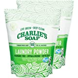 Charlie's Soap Laundry Powder (100 Loads, 2 Pack) Hypoallergenic Deep Cleaning Washing Powder Detergent – Eco-Friendly, Safe,