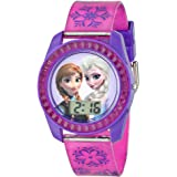 Disney Kids' FZN3598 Digital Display Analog Quartz Purple Watch