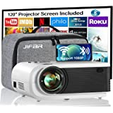 """Native 1080p Projector,7500 Lumens Projector for Outdoor Movies with 400""""Display,Support 4K Dolby & Zoom,100000 hrs Life,Indo"""