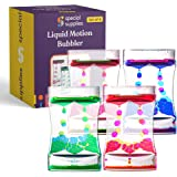 Special Supplies Liquid Motion Bubbler Deluxe Toy (4-Pack) Colorful Hourglass Timer with Droplet Movement, Bedroom, Kitchen,
