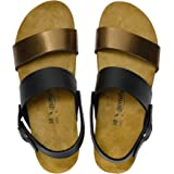 AEROTHOTIC - Genuine Suede Leather and Cork Footbed Sandals for Women
