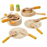 Hape E3103B Gourmet Play Kitchen Starter Accessories Wooden Play Set White
