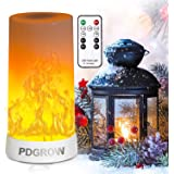 LED Flame Lights with Remote Timer, Flame Lamp 4 Modes USB Rechargeable Fire Lights Indoor Campfire Outdoor Decorative Lanter