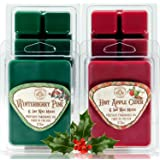 Way Out West Candles Scented Wax Melts for Wax Warmers - Highly Fragrant Air Freshener - 4 Pack Assorted Set of 6 Melt Cubes