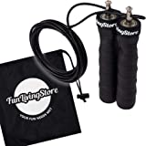 Weighted Skipping Rope for Men and Women; Adjustable Length Jump Rope with Removable Handle Weights of 680 grams; Workout and