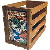 Comic Book Bin Storage Box Stackable Display Wood