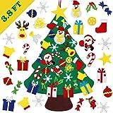 DIY Felt Christmas Tree, Reayouth Felt Christmas Tree Set, 30 Pcs Detachable Ornaments, Christmas Window Door Wall Hanging De