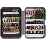 Bassdash Trout Lures Steelhead Salmon Fishing Flies Assortment 57/58pcs Include Dry Wet Flies Nymphs Streamers Eggs, Fly Lure