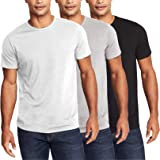 COOFANDY Men's 3 Pack Crew Neck Shirts Short Sleeve Solid Casual T-Shirts Soft Comfy Cotton Shirt for Men