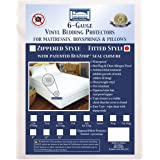 Bargoose | Fitted Mattress Cover | Vinyl Bed Protector | Waterproof Box Spring Encasement | Guards Against Pests & Liquids |