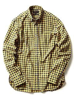 Typewriter Check Buttondown Shirt 11-11-2467-139: Yellow