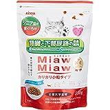 ミャウミャウ キャットフード カリカリ小粒タイプシニア猫用まぐろ味×3個 (まとめ買い)